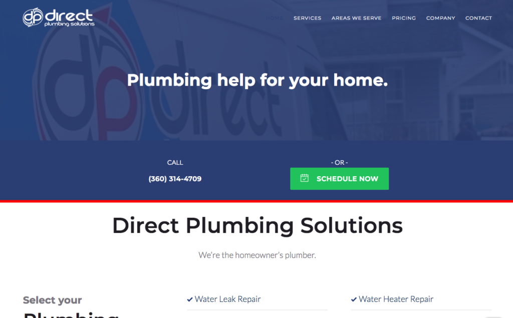 Direct plumbing website